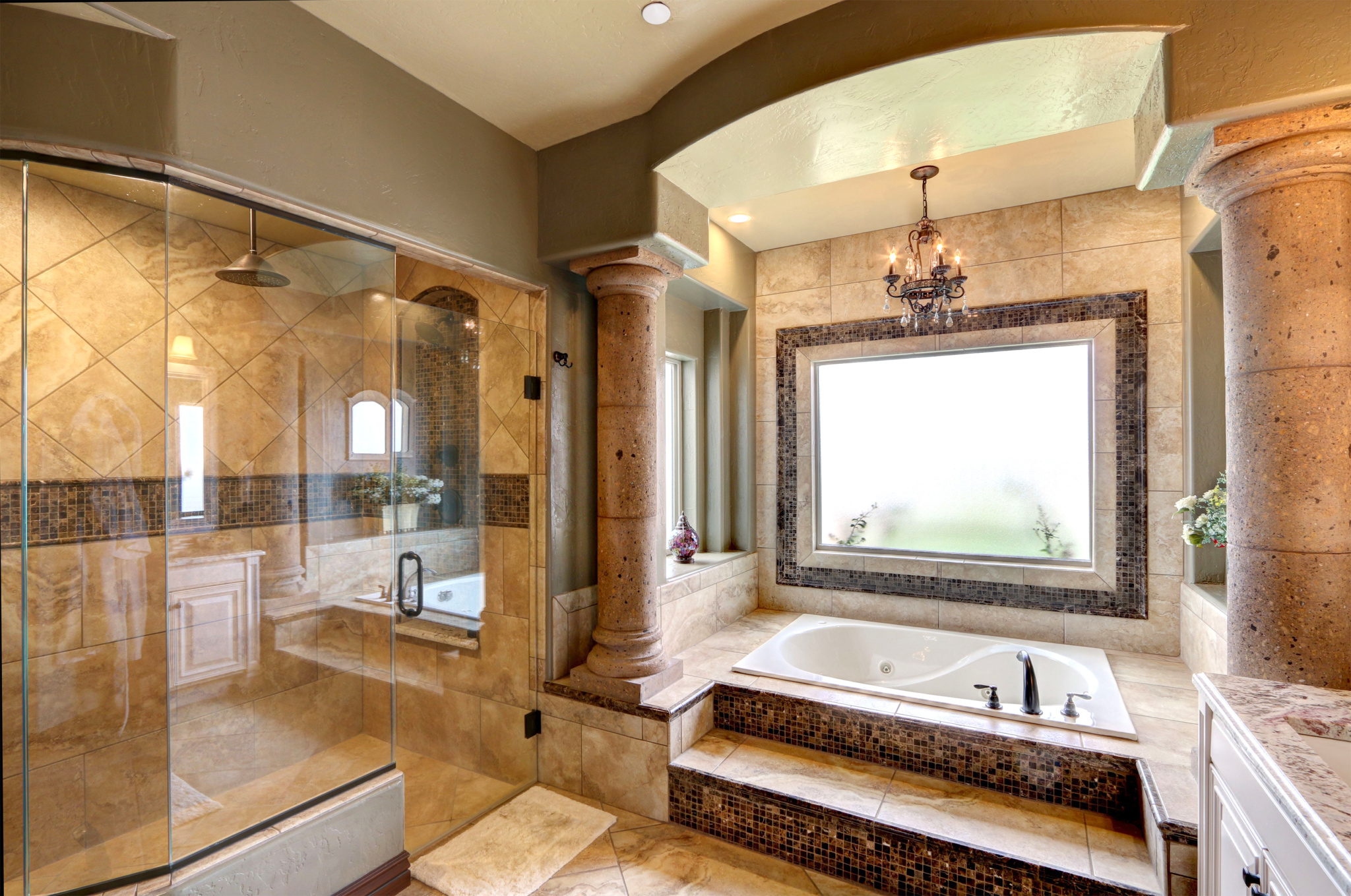 Ocotillo Estates El Paso TX Carravagio Master Bath Shower