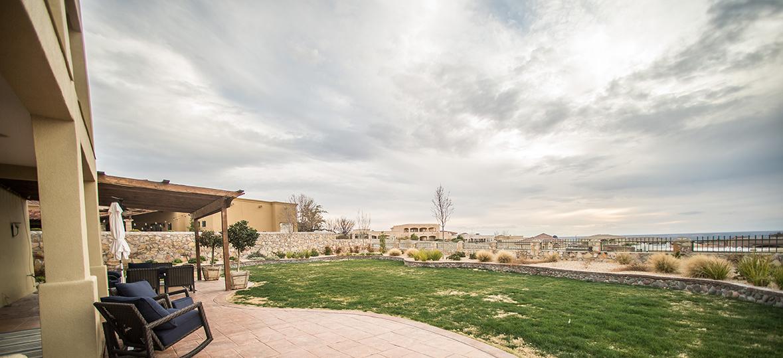 Franklin Hills El Paso TX Carravagio Backyard View